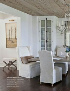 Go for a pecky cypress ceiling to add a beachy driftwood style to your home!