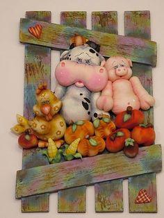 Barnyard animals polymer #clay