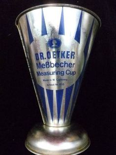 Vintage Metal Beaker  Dr Oetker Mebbecher West Germany/We always used Dr. Oetker products in our kitchen!