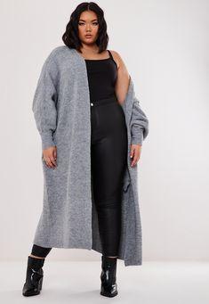 City Chic Ladies Unreal Tie Front Sweater Jumper Top sizes 14 16 Colour Black