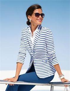 Jeans mit geradem Bein, Blazer, Bluse in -Qualität, Damen Sonnenbrille mit…