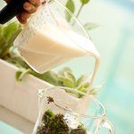 Grow moss! Blend 2 cups water, 2 cups buttermilk and moss, then paint your moss-shake over surface. Have moss in 3-4 weeks