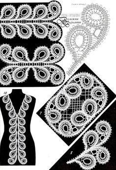 irish crochet motifs -