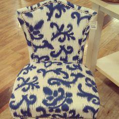 Pretty print on this Cynthia Rowley slipper chair #MGapt