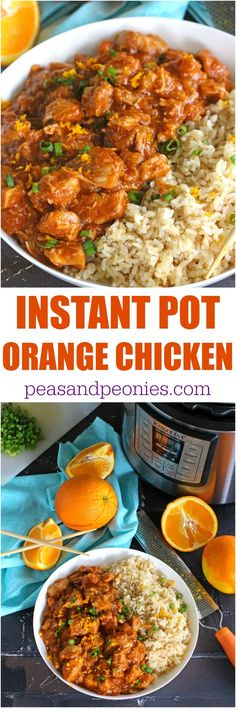 Instant Pot Orange Chicken is healthier than takeout and easy to make using your Instant Pot. Made with fresh orange juice and orange zest for great flavor. (easy whole 30 recipes crockpot) Instant Pot Pressure Cooker, Pressure Cooker Recipes, Pressure Cooking, Pressure Pot, Crock Pot Recipes, Cooking Recipes, Casserole Recipes, Asian Recipes, Healthy Recipes