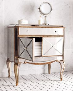 """""""Claudia"""" Mirrored Chest at Horchow.  30""""w X 19""""d X 32""""t"""