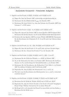 Analytische Geometrie - Vermischte Aufgaben | Aufgaben mit Lösungen und Videoerklärungen | #1919 #Bruchgleichungen #Gymnasium #Prozentsatz #Grundwert #Prozentwert #Einheiten #umrechnen #Zentimeter