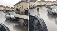 Rampa Improvisada Com Ferros De Andaime Para Rebocar Carro Não Correu Como Planeado