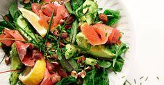 Avokadosalat med røkt laks og mandler Seaweed Salad, Cobb Salad, Good Food, Healthy Recipes, Ethnic Recipes, Healthy Diet Recipes, Health Foods, Health Recipes, Healthy Eating Recipes