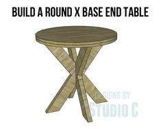 Round End Table Plans - WoodWorking Projects & Plans
