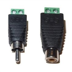 [Visit to Buy] 5Pairs CAT5 To Camera CCTV Video Balun RCA female+male jack AV Screw Terminal Connector, RCA MF to terminal Block #Advertisement
