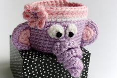 Ravelry: Penelope the Elephant - Coffee Cup Cozy pattern by MaygelleNDots