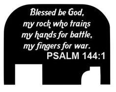 Psalm 1441 Custom Slide Cover Plate for Glock by BLCustomCreations, $19.00