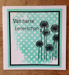 Get well soon card using Joy! Craft silhouette stamp by Asjechris