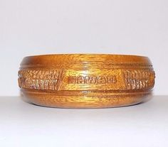 """Hand Carved Wooden Bowl Souvenir Hawaii Shiny Finish 5 1/2"""" in Diameter"""
