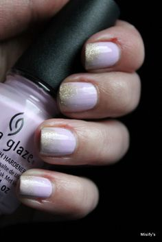 China Glaze - In A Lily Bit / OPI - Love. Angel. Music. Baby.