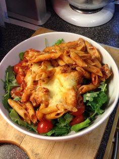 Vicki-Kitchen: Italian chicken pasta bake (slimming world friendly)