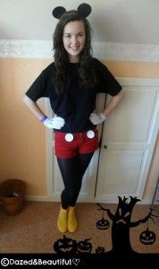 Cute DIY home made minnie mouse or mickey mouse costume