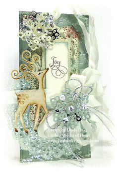 JOY - a totally stunning card by Linda's Works of Heart
