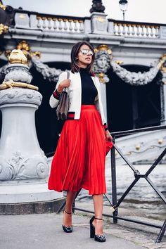 красный цвет в одежде, с чем носить красный