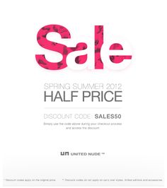 United Nude Sale Spring-Summerr 2012