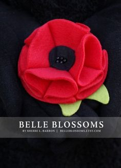 Red poppy pin - purchased for remembrance day