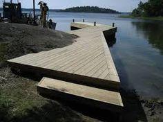 Bildresultat för bygga bryggor Decks, Lake Landscaping, Small Bridge, Small Lake, Dream House Exterior, Boat Dock, Construction Design, Built In Storage, Garden Bridge