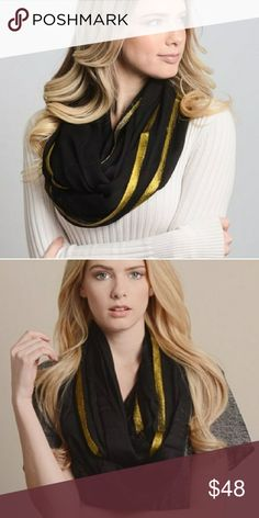 "⭐ Metallic Infinity Scarf ⭐ 36""x36""  100% Polyester Accessories Scarves & Wraps"