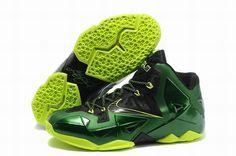 quality design 56e7b f9378 Fast Shipping To Buy Black Green Volt Nike Lebron XI 11 Lebron James Shoes  2013 Discount