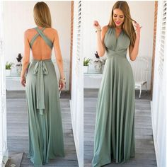 Long Summer Convertible Bohemian Dresses Casual Bandage Evening Prom Club  Party Blue Maxi Dresses 3e75fa20bea1