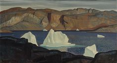 """""""Rockwell Sea and Rocksigned © Rockwell Kent UAA, l. on May 2004 Mountain Art, Mountain Landscape, Charles Green, Rockwell Kent, American Realism, Landscape Paintings, Landscapes, 2d Art, Nocturne"""