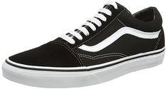Vans Unisex Old Skool Skate Shoe (9.5 Men 11 Women, Black/White)