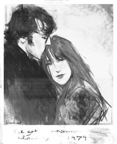 """""""The weapon we have is love"""" (amazing work of Lily and James Potter by blvnk-art on tumblr)"""