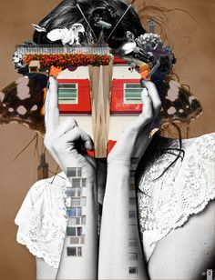 Lisa Lara Bella by Marko Köppe #collage #artiste #contemporain  I will be your house.