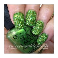 Nail Glitter Light Green Sparkle Glitter Dust Powder Nail Art ❤ liked on Polyvore featuring beauty products, nail care and nail treatments