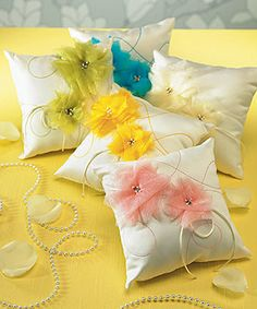 ceremony ring pillow...good for spring :)