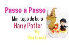 Passo a Passo - Mini Topo de bolo - Harry Portter - Biscuit - Bia Cravol...