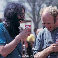 Ken Kesey & Jerry Garica, Newport Pop Festival 1968 - photo by Rosie McGee Grateful Dead Image, Ken Kesey, Most Powerful Quotes, Dead And Company, Forever Grateful, Good Ole, Cool Bands, Kool Aid, Gd