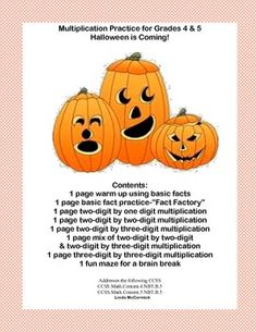 math worksheet : 1000 images about my halloween products on pinterest  : 5th Grade Halloween Math Worksheets