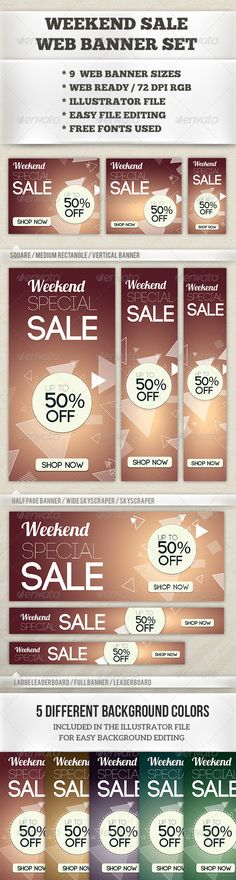 weekend sale web banner set template psd buy and download http