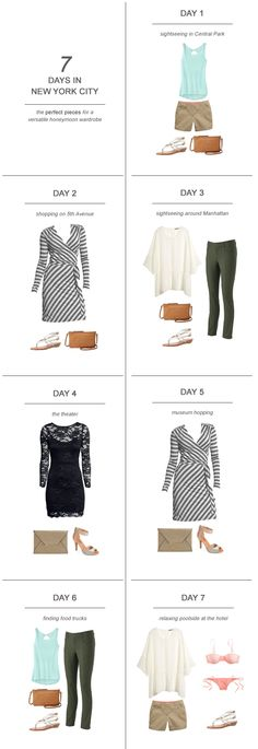 7 Days in New York City : The Perfect Pieces for a Versatile Honeymoon Wardrobe