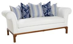 Don't love the cushions or color but the style of couch Striped Furniture, Traditional Sofa, Tuxedo, Sofas, Love Seat, Old Things, Cushions, House Design, Couch