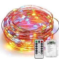 Fairy Lights Battery Operated YIHONG 8 Modes String Lights 39FT Copper Wire 120 LED Starry Lights Firefly Lights Remote Control with Timer for Wedding Halloween Christmas Party Decor Multicolor *** Want additional info? Click on the image.