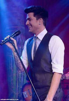 Smiling again Adam Lambert