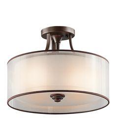 kichler 42387 lacey large semi flush ceiling light kichler lighting
