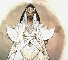Star Wars | Concept art Padme Wedding Costume Attack of the Clones Sketch drawing artwork by artist Iain McCaig