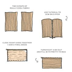 ten minute zipper bag-  so I can finally learn how to sew a zipper :)