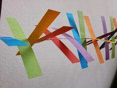 Papier-Girlande als Party-Deko nähen