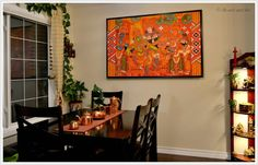 Indian inspired dining room