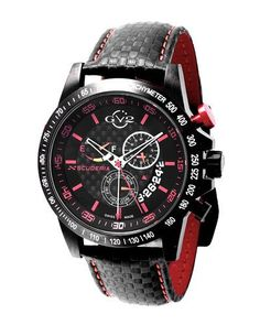 50mm Scuderia Men's Chronograph Watch w/ Leather Strap
